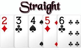 straight poker online