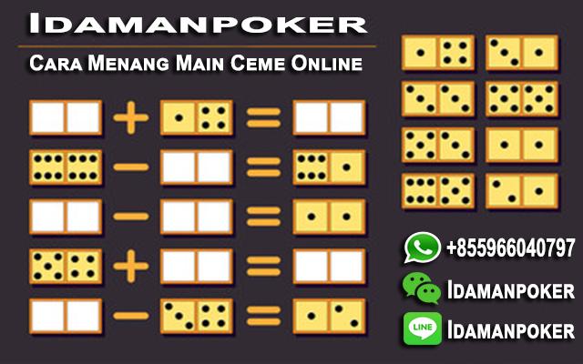 rumus dan cara main ceme online